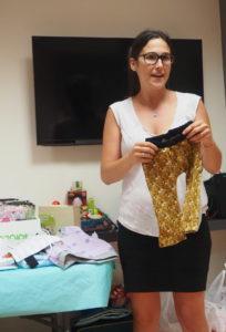 Melani presentando The.la.mel