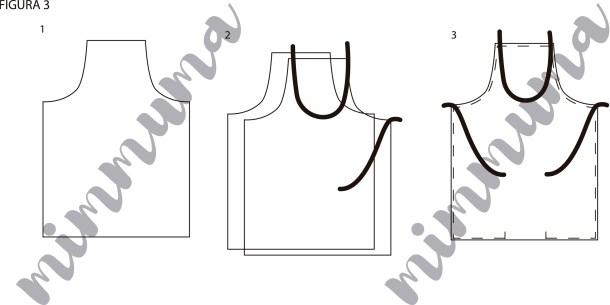 Instrucciones gráficas del delantal