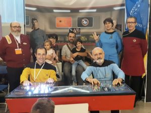 Foto con algunos de los integrantes del club Star Treck España