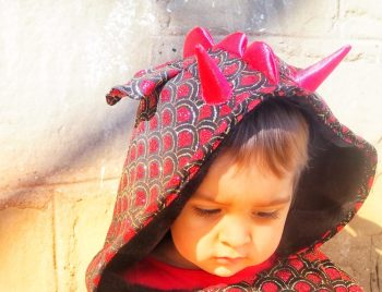 La baby con su disfraz