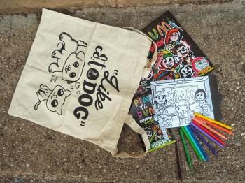 Bolsa Pets, libro para colorear y minibox Rockstars