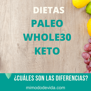 diferencias keto whole30 paleo min 1 - Vida saludable