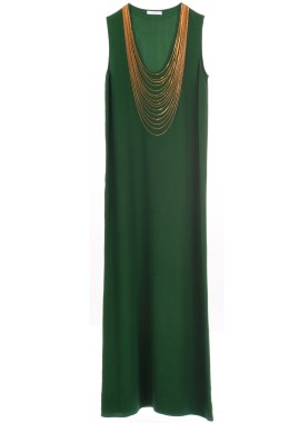 Dress 6615 Seda Verde Chains