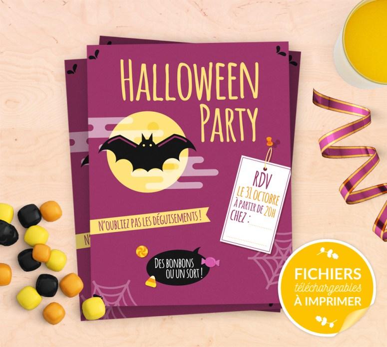 Kit imprimable invitation halloween