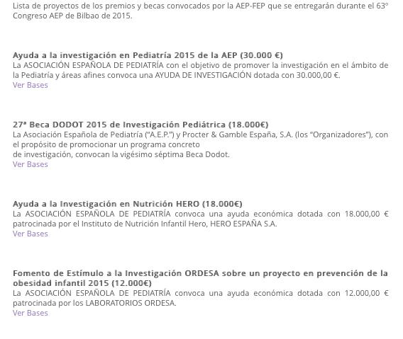 Becas AEP 2015