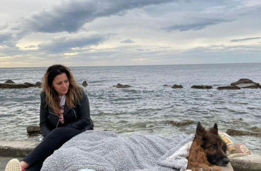 Este perrito con parálisis  visito el mar antes de morir