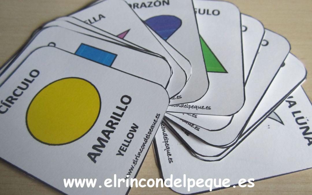 Juego de cartas para imprimir: Colores y formas.