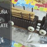 Cómo hacer una tarta tren de chocolate