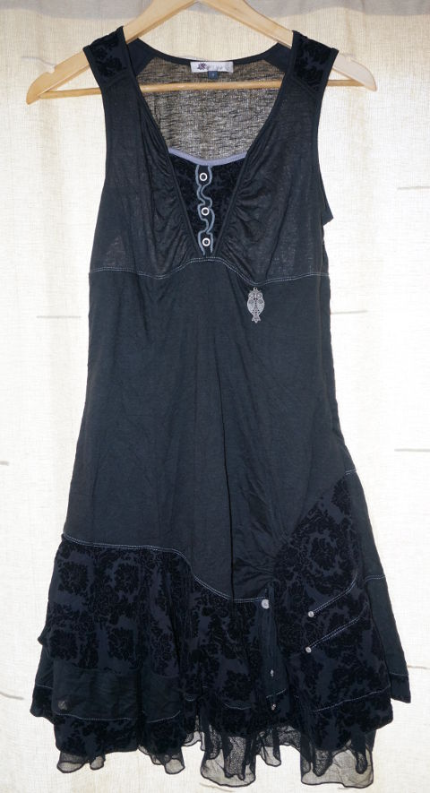 Black dress with owl from Kiabi