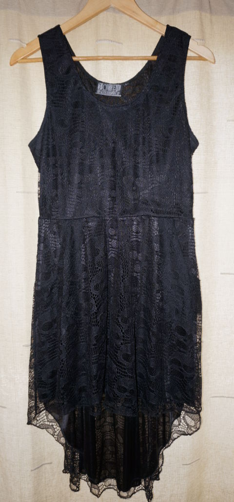 Poizen Industries black dress with skulls