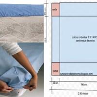 Cómo hacer sábanas ajustables, con medidas y patrones!