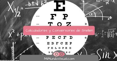 Calculadores De Snellen Distancia Y Optotipo Y Conversores De Snellen - LogMAR - mimundovisual.com