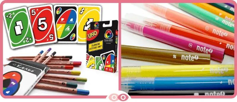 ColorADD en los lápices de colores y en el UNO - mimundovisual.com