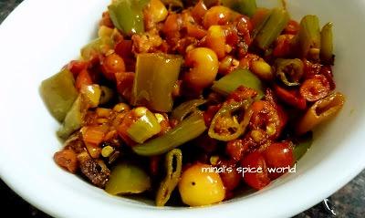 Karonde Mirch Ki Achari Sabji - A Rajasthani curry