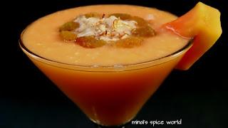 Papaya Shake- A Nutritional Drink.
