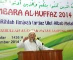Pembina Utama, Muhyiddin Hamidy saat menyambut 40 santri IMTIAZ Malaysia di Ponpes Al-Fatah Lampung. Photo By : Hadis MINA