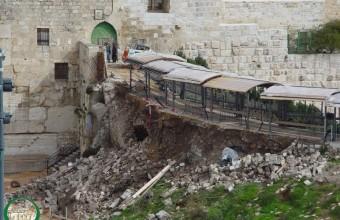 GALIAN ISRAEL DI AL-AQSHA SEBABKAN KERUSAKAN SERIUS