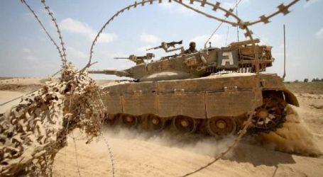 TANK LAPIS BAJA ISRAEL TEMBUS PERBATASAN GAZA