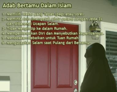 Adab Bertamu Dalam Islam Mina News