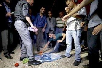 PEMERINTAH YORDANIA TANGKAP TERSANGKA BAKAR BENDERA ISRAEL
