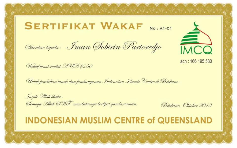 Sertifikat Wakaf Mina News