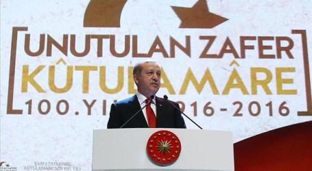 Erdogan Puji Kemenangan Utsmani Atas Inggris 100 Tahun yang Lalu