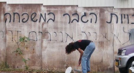 Ekstrimis Yahudi Menulis Slogan-slogan Rasis di Barat Betlehem
