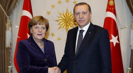 Presiden Turki Erdogan dan Kanselir Jerman Merkel Bahas Suriah