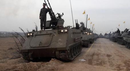 Hizbullah Pamerkan Parade Tank dan Rudal di Suriah