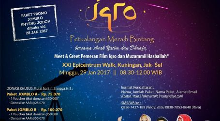 "RISKA Kembali Gelar ""Second Annual Nobar Charity Film IQRO"""