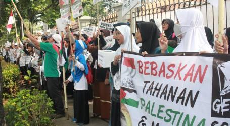 Dukung Tahanan Palestina, 500 Warga Indonesia Datangi Kantor PBB