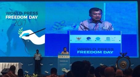 WPFD 2017, Wapres Tekankan Kebebasan Pers untuk Perdamaian