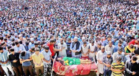 Lebih 10.000 Orang ke Desa Soaf Shali Makamkan Komandan LeT