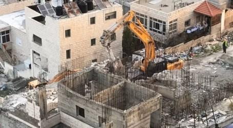 Pasukan Israel Hancurkan Bangunan Palestina di Yerusalem Timur