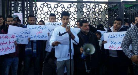 Demo Tuntut Pembukaan Perlintasan Rafah