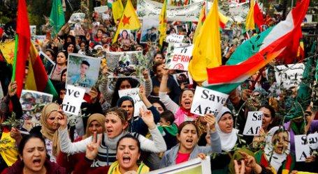 Kurdi Lebanon Protes Operasi Militer Turki di Suriah