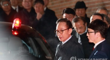 Mantan Presiden Korsel Lee Myung-bak Ditangkap