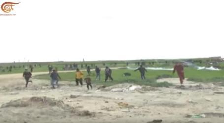 Drone Israel Tembakkan Gas Air Mata ke Demonstran di Gaza