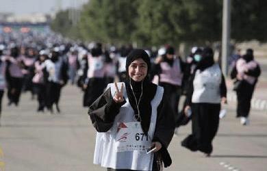 Wanita Saudi Peringati Hari Perempuan dengan Joging