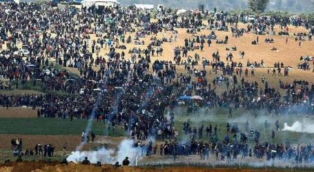 Seorang Wanita Palestina Terbunuh, 25 Terluka, dalam Aksi Damai ke-42