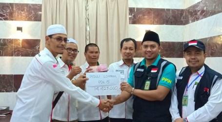 Jamaah Haji Kloter 15 Padang Galang Dana Untuk Korban Gempa NTB