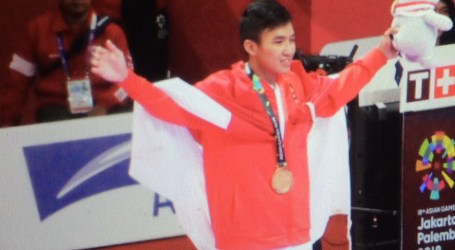 Rifki Ardiansyah Raih Medali Emas Karate
