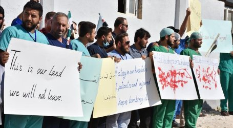 Petugas Kesehatan Suriah Protes Serangan di Idlib