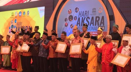 Empat Kabupaten Dapat Penghargaan pada Puncak Peringatan Hari Aksara Internasional ke-53