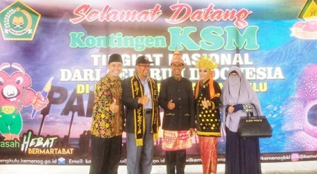 Kontingen Kompetensi Sains Madrasah Nasional Tiba di Bengkulu