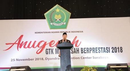 Menteri Agama Ajak Guru Madrasah Junjung Moderasi Beragama