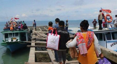 Sebanyak 135 Pengungsi Pulau Sebesi dan Pulau Sebuku Dipulangkan