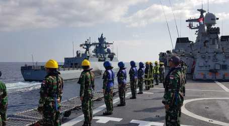 Satgas TNI Konga dan Kapal Perang Jerman Gelar Latihan Bersama