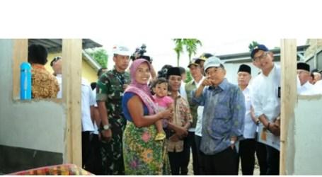 Wapres JK Tinjau Rekonstruksi Pascagempa Lombok