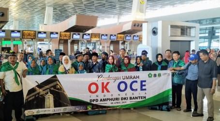 Garap Wirausaha Umroh, OK OCE Berangkatkan 45 Jamaah Kloter Perdana